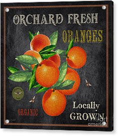 Orchard Fresh Oranges-jp2641 Acrylic Print by Jean Plout