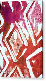 Orchid Diamonds- Abstract Painting Acrylic Print by Linda Woods