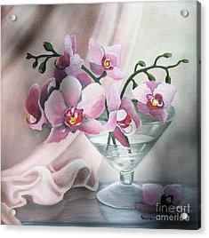 Orchids Acrylic Print by Vesna Martinjak