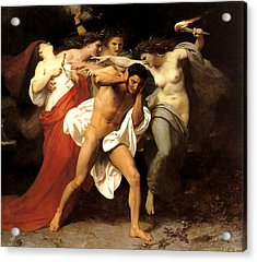 Orestes And The Furies Acrylic Print by William Adolphe Bouguereau
