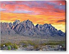 Organ Mountain Sunrise Acrylic Print by Jack Pumphrey