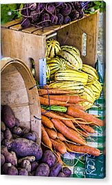 Organic Vegetable Farm Stand Acrylic Print by Julie Palencia
