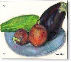 Organic Veggies Acrylic Print by Connie Thomas