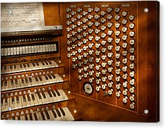 Organist - Ready At The Controls Acrylic Print by Mike Savad