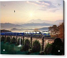 Orient Express Acrylic Print by Michael Rucker