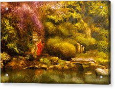 Orient - The Japanese Garden Acrylic Print by Mike Savad