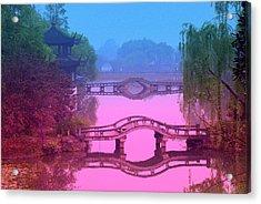 Oriental Bridge Acrylic Print by Larry Moloney
