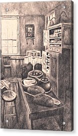 Original Old Fashioned Kitchen Acrylic Print by Kendall Kessler
