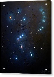 Orion The Hunter Acrylic Print by Timothy Benz
