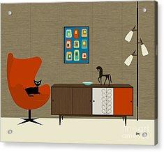 Orla Kiely Cabinet Acrylic Print by Donna Mibus