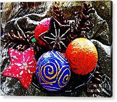Ornaments 7 Acrylic Print by Sarah Loft