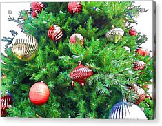Ornaments So Bright Acrylic Print by Audreen Gieger-Hawkins