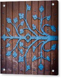 Ornate Church Door Hinge Acrylic Print by Mr Doomits