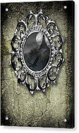 Ornate Metal Mirror Reflecting Church Acrylic Print by Amanda And Christopher Elwell