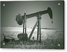 Orphans Of The Texas Oil Fields Acrylic Print by Christine Till