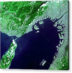 Osaka Bay Acrylic Print by Nasa/gsfc/meti/japan Space Systems And U.s./japan Aster Science Team