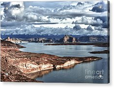 Otherworldly Morning At Lake Powell Acrylic Print by Sandra Bronstein