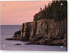 Otter Cliff At Dawn Acrylic Print by Juergen Roth