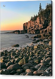 Otter Cliffs Acrylic Print by Jerry Fornarotto