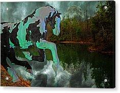 Otter Lake Phantom Acrylic Print by Betsy Knapp