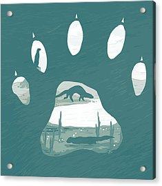 Otter Paw Acrylic Print by Daniel Hapi