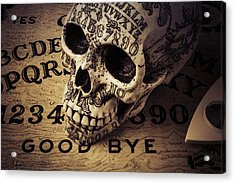 Ouija Boards And Skull 2 Acrylic Print by Garry Gay