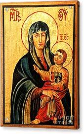 Our Lady Of Cieszyn Icon Acrylic Print by Ryszard Sleczka