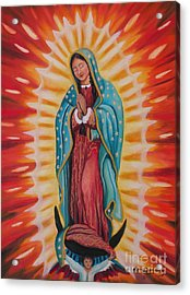 Our Lady Of Guadalupe Acrylic Print by Lora Duguay