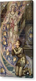 Our Lady Of Peace Acrylic Print by Evelyn De Morgan