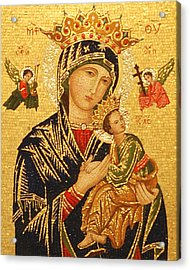 Our Lady Of Perpetual Help  Acrylic Print by Philip Ralley