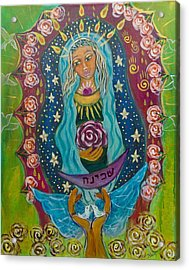 Our Lady Of Rebirth And Renewal Acrylic Print by Havi Mandell