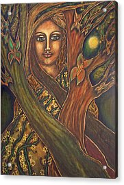Our Lady Of The Shimmering Wildwood Acrylic Print by Marie Howell Gallery