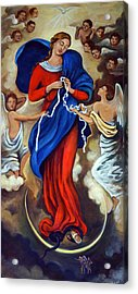 Our Lady Undoer Of Knots Acrylic Print by Valerie Vescovi