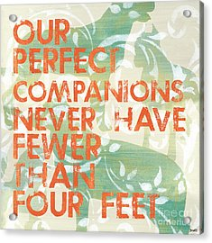 Our Perfect Companion Acrylic Print by Debbie DeWitt