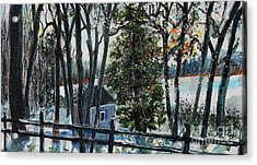 Out Of The Woods At Walden Pond Acrylic Print by Rita Brown