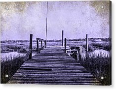 Out On The Pier  Acrylic Print by Steven  Taylor