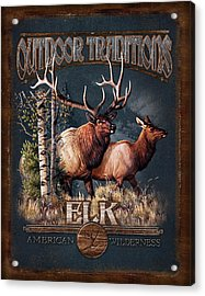 Outdoor Traditions Elk Acrylic Print by JQ Licensing