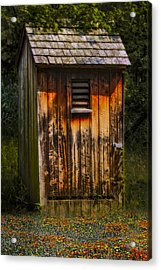 Outhouse Shack Acrylic Print by Susan Candelario
