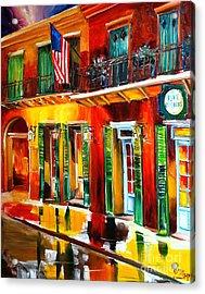 Outside Pat O'brien's Bar Acrylic Print by Diane Millsap