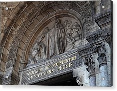 Outside The Basilica Of The Sacred Heart Of Paris - Sacre Coeur - Paris France - 011312 Acrylic Print by DC Photographer