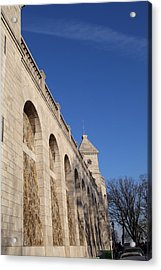 Outside The Basilica Of The Sacred Heart Of Paris - Sacre Coeur - Paris France - 01132 Acrylic Print by DC Photographer