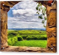 Outside The Fortress Wall Acrylic Print by Jeff Kolker