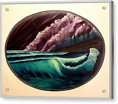 Oval Ocean View Acrylic Print by Joyce Krenson