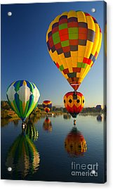 Over The Water Acrylic Print by Mike  Dawson