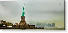Overlooking Liberty Acrylic Print by Az Jackson