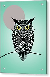 Owl 5 Acrylic Print by Mark Ashkenazi