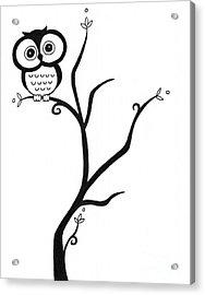 Owl Acrylic Print by Jennifer Kimberly