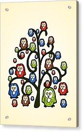 Owl Tree Acrylic Print by Anastasiya Malakhova