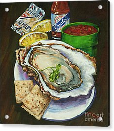 Oyster And Crystal Acrylic Print by Dianne Parks