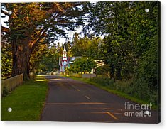 Oysterville Church Framed Acrylic Print by Robert Bales